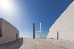 在Champalimaud基础的未来派建筑学细节 库存照片