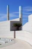 在Champalimaud基础的未来派建筑学细节 库存图片