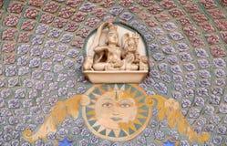 在Chandra玛哈尔,斋浦尔市宫殿的罗斯门 库存图片