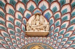 在Chandra玛哈尔,斋浦尔市宫殿的莲花门 库存照片