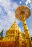 在changmai省的土井su thap与蓝天背景landma 免版税库存图片