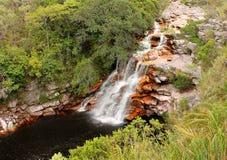 在Chapada Diamantina,巴西的恶魔的瀑布。 库存照片