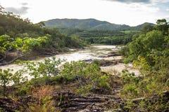 在Chapada dos Veadeiros的Encontro das阿瓜 免版税库存图片