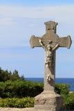 在Chapelle de Sainte Croix à LaCouronne附近的耶稣受难象 免版税图库摄影