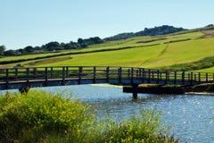 在Charmouth的桥梁 免版税库存图片