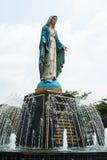 在Chatheday Chantaburi,泰国的圣母玛丽亚雕象。 图库摄影