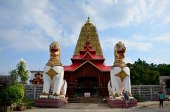 在Chedi Buddhakhaya地点的Singha在Wat的Wang Wiwekaram附近 图库摄影
