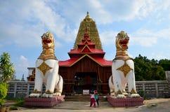 在Chedi Buddhakhaya地点的Singha在Wat的Wang Wiwekaram附近 库存照片