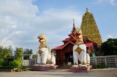 在Chedi Buddhakhaya地点的Singha在Wat的Wang Wiwekaram附近 免版税库存图片