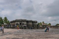 在Chennakeshava寺庙复合体的Kesava寺庙在贝鲁尔Karnatak 图库摄影