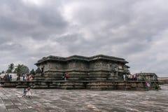 在Chennakeshava寺庙复合体的Kesava寺庙在贝鲁尔Karnatak 库存图片
