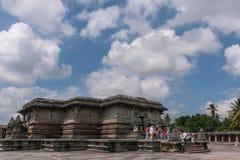在Chennakeshava寺庙复合体的Kesava寺庙在贝鲁尔Karnatak 免版税库存图片