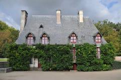 在Chenonceau城堡的村庄 库存照片