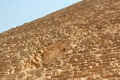 在Cheops,吉萨棉,开罗,埃及伟大的金字塔的门  免版税库存图片