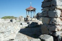 在Chersonese古城的废墟 库存照片