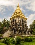 在Chiangmai泰国的古老寺庙。 图库摄影