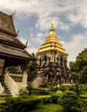 在Chiangmai泰国的古老寺庙。 免版税库存图片