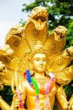 在chiangmai泰国的Narayana雕象 免版税图库摄影