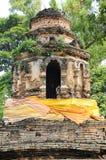 在chiangmai,泰国的古庙 免版税库存图片
