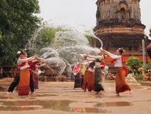 在chiangmai,泰国的Songkran节日 库存图片