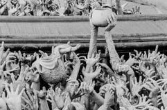 在chiangrai,泰国的荣khun寺庙 库存照片