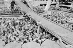 在chiangrai,泰国的荣khun寺庙 库存图片