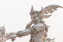 在chiangrai,泰国的荣khun寺庙 免版税库存照片