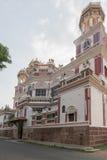 在Chidambara宫殿门面的壁角看法  图库摄影