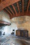 在Chillon城堡里面,瑞士 库存照片