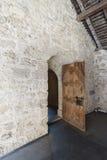 在Chillon城堡里面,瑞士 免版税库存图片