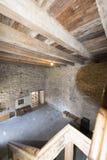 在Chillon城堡里面,瑞士 免版税图库摄影