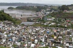 在Chiloe海岛,智利上的卡斯特罗 图库摄影