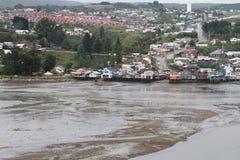 在Chiloe海岛,智利上的卡斯特罗 库存照片