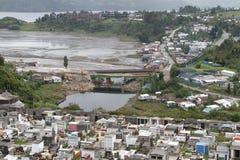 在Chiloe海岛,智利上的卡斯特罗 库存图片