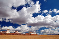 在chinchero天空之上 库存图片