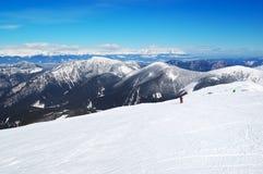 在Chopok的不劳而获区在Jasna滑雪胜地 库存图片