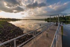 在ChoRaka水坝的看法 库存照片