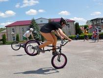 在Chortkiv_15的天自行车 免版税库存照片