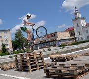 在Chortkiv_18的天自行车 免版税库存照片