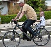 在Chortkiv_13的天自行车 免版税图库摄影