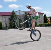 在Chortkiv_17的天自行车 免版税库存照片