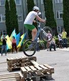 在Chortkiv_19的天自行车 库存图片