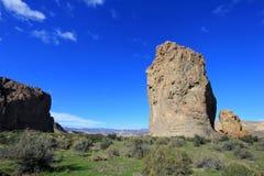 在Chubut谷的彼德拉Parada巨型独石,阿根廷 图库摄影