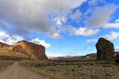 在Chubut谷的彼德拉Parada巨型独石,阿根廷 库存图片
