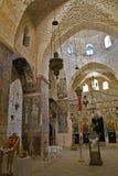 在chuch里面在圣洁阴级射线示波器的修道院里 图库摄影