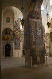 在chuch里面的美好的壁画在圣洁阴级射线示波器的修道院里 库存图片