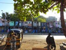在Chuim村庄Bandra附近的议院 免版税库存图片