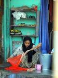 在Chuim村庄Bandra附近的洗涤的洗衣店 库存图片