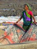 在Chuim村庄Bandra附近的洗涤的洗衣店 库存照片