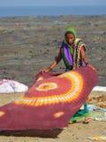 在Chuim村庄Bandra附近的洗涤的洗衣店 免版税图库摄影